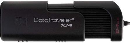 Stick USB Kingston DataTraveler 104 DT104/64GB, 64GB, USB 2.0 (Negru)
