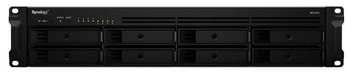 NAS Synology RS1219+, 8 Bay-uri, Procesor Quad Core 2.4 GHz, 2 GB DDR3