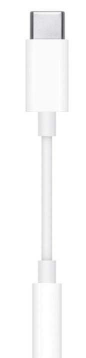 Adaptor Apple MU7E2ZM/A, Type-C - port Jack 3.5mm (Alb) imagine