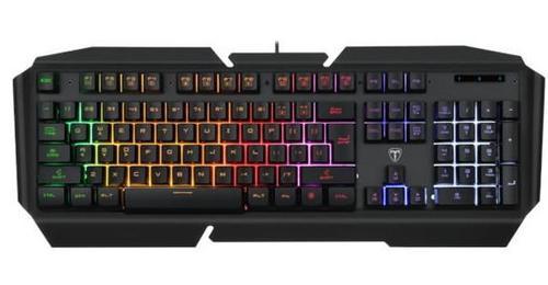 Tastatura gaming T-Dagger Landing-Ship, Iluminare LED rainbow (Negru)