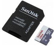 Card Sandisk Ultra MicroSDXC 128GB + Adaptor SD
