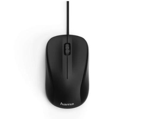 Mouse Optic HAMA MC-300, 1200 dpi (Negru)