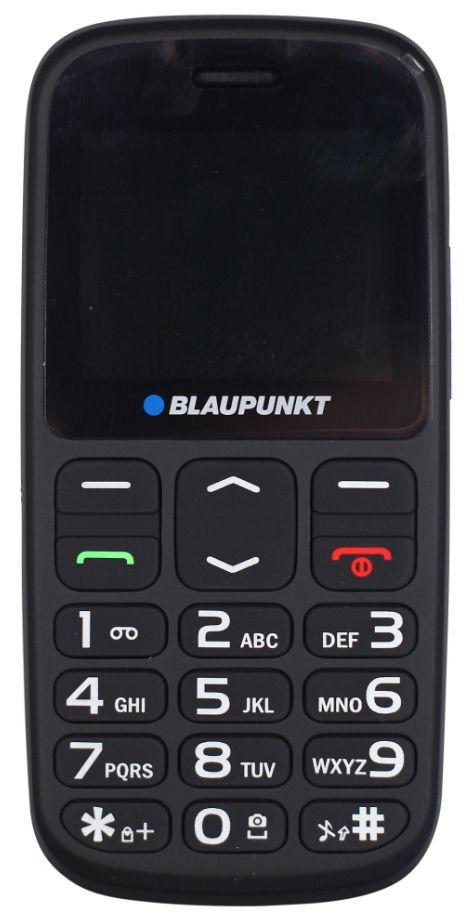 Telefon Mobil Blaupunkt BS02, Taste Mari, Ecarn 2inch, Camera 1.3 MP, Buton SOS, Lanterna (Negru)