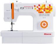 Masina de cusut electromecanica Minerva Select15, 12 programe, 850 rpm, 70W (Alb/Portocaliu)