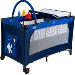 Patut pliant Juju Sleepy Baby Space Adventure, 2 nivele (Bleumarin/Albastru)