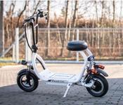 Moped Electric Airwheel K10, Viteza 25 km/h, Autonomie 30 km, Motor 350W (Alb)