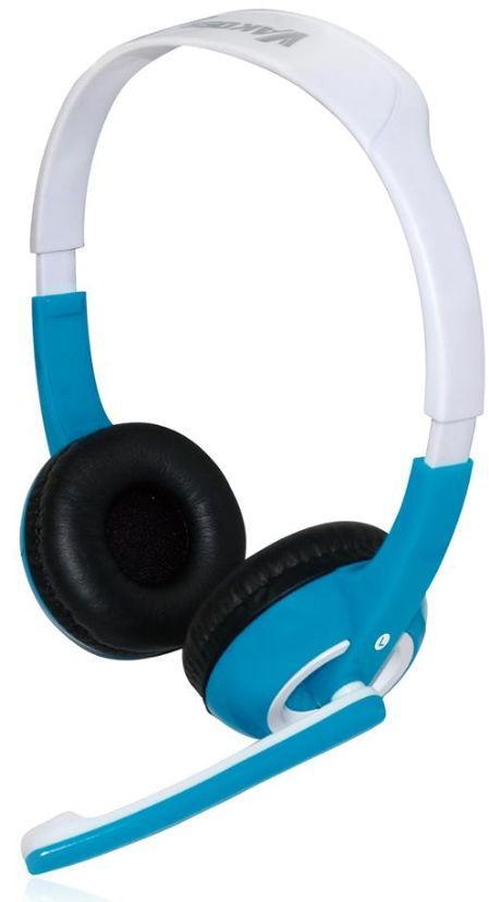 Casti Stereo Vakoss SK-463HB, Microfon (Alb/Albastru)