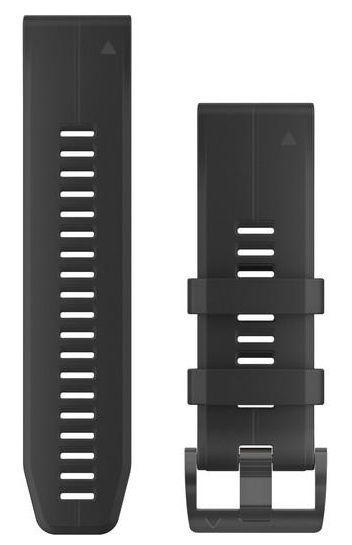 Curea de schimb pentru Garmin Fenix 5X Plus, 26mm, QuickFit, Silicon (Negru)