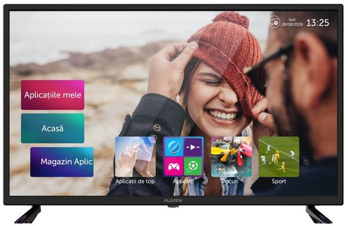 Televizor LED Smart Allview 80 cm (32inch) 32ATS5000-H, HD Ready, Smart TV, WiFi, CI+