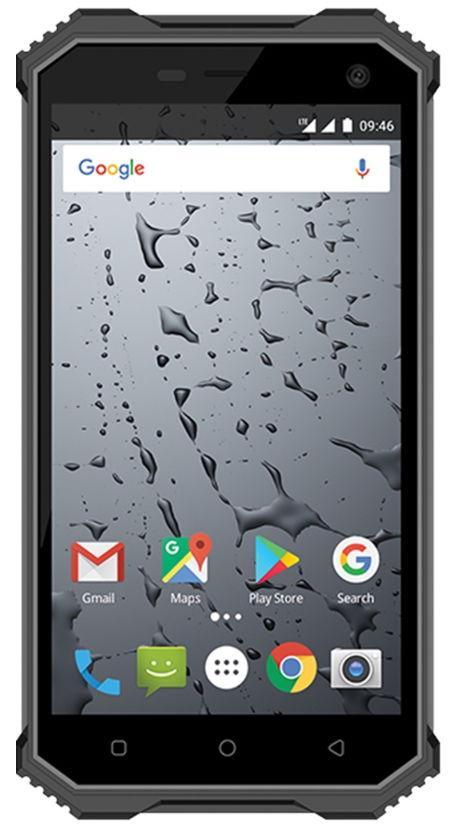 Telefon Mobil MaxCom Strong MS457, Procesor Quad-Core 1.3GHz, IPS 5inch, 2GB RAM, 16GB Flash, 8MP, Wi-Fi, 4G, Dual Sim, Android (Negru/Gri)