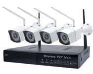 "Kit supraveghere video PNI House WiFi550, NVR, 8 canale 1080p + 4 camere wireless, 1280 x 720, 1.0MP,  1/4"" CMOS"