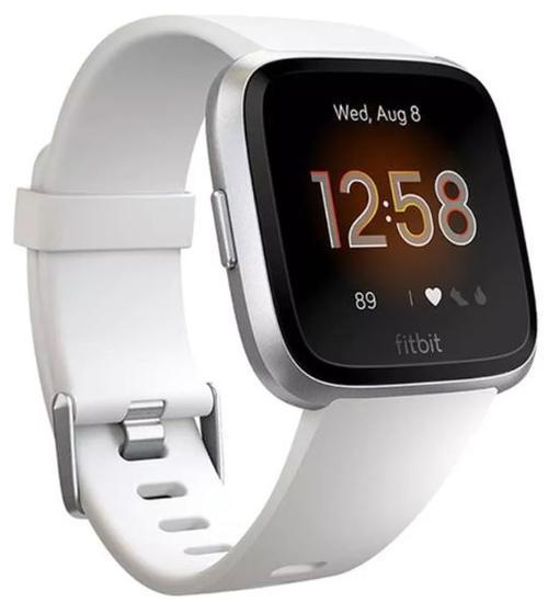Ceas activity tracker Fitbit Versa Lite, Android&iOS, Bluetooth, Silicon (Alb/Argintiu)