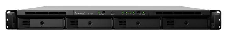 NAS Synology RS818RP+, Gigabit, 4 Bay-uri, Procesor Intel Atom C2538, 2 GB DDR3 (Negru)
