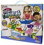 Puzzle de podea Grafix, Asambleaza si picteaz, Animalute marine, 15 piese