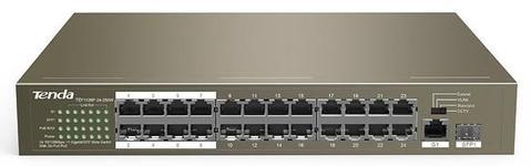 Switch Tenda TEF1126P-24-250W, 24 Porturi, PoE