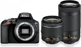 Aparat Foto D-SLR Nikon D3500, 24MP CMOS, Filmare Full HD + obiectiv AF-P DX 18–55 VR + obiectiv AF-P DX 70–300 VR  (Negru)