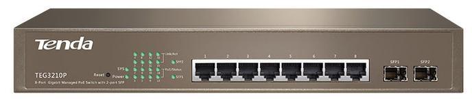 Switch Tenda TEG3210P, Gigabit, 8 Porturi, PoE