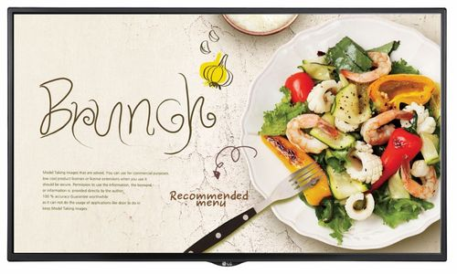 Display LED LG 55inch 55SM5KE-B, Full HD (1920 x 1080), DVI, HDMI, DisplayPort, Boxe (Negru)