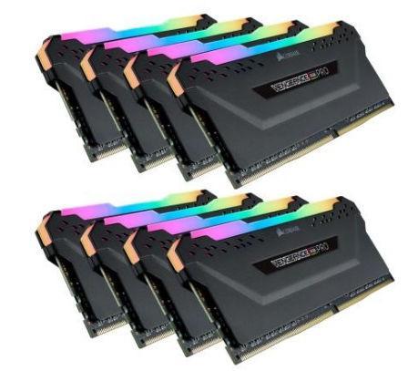 Memorii Corsair Vengeance RGB PRO, 64GB (8 x 8GB), DDR4, 2933MHz, CL16