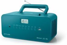 Sistem Audio Muse M-30 BTB, Radio cu ceas, CD/MP3 Player, Bluetooth (Albastru)