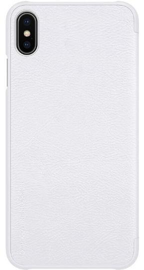 Husa Flip Cover Nillkin Qin pentru Apple iPhone XS Max (Alb)