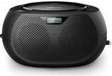 Microsistem audio Philips AZB200/12, CD Player, tuner FM, DAB+, AUX, 2 x 1 W RMS, reglare automata digitala (Negru)