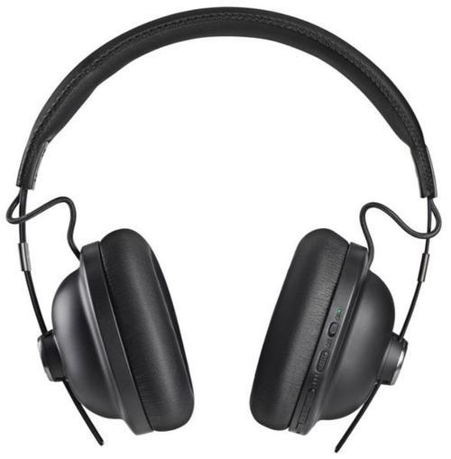 Casti Stereo Panasonic RP-HTX90NE-K, Bluetooth, Noise Cancelling, sunet de inalta calitate cu magnet neodinium de 40mm, microfon incorporat, voce control, autonomie baterie 20 ore, incarcare rapida, design retro (Negru) imagine