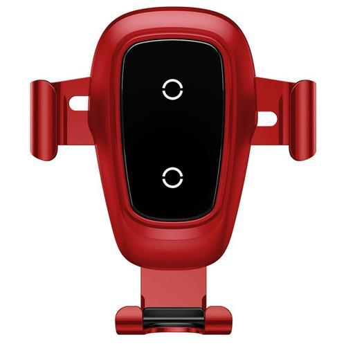 Suport Auto Baseus WXYL-B09 Gravity Metal, incarcare Wireless, Qi, 10W, prindere la sistemul de ventilatie (Rosu) imagine evomag.ro 2021