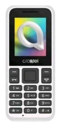Telefon Mobil Alcatel 1066D, Ecran TFT 1.8inch, Camera VGA, Dual Sim, 2G (Alb)