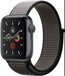 "Smartwatch Apple Watch 5, LTPO OLED Capacitive touchscreen 1.78"", Bluetooth, Wi-Fi, Bratara Sport Loop 44mm, Carcasa Aluminiu, Rezistent la apa si praf (Negru)"