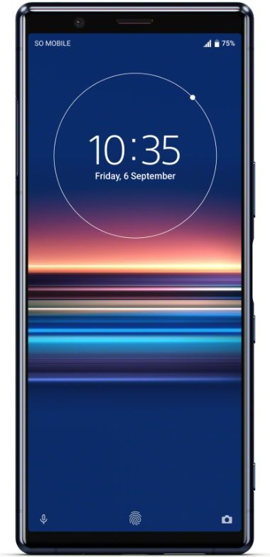 Telefon Mobil Sony Xperia 5 J9210, Procesor Snapdragon 855 Octa-core, OLED Capacitive touchscreen 6.1inch, 6GB RAM, 128GB Flash, Camera Tripla 12+12+12MP, 4G, Dual Sim, Wi-Fi, Android (Albastru)