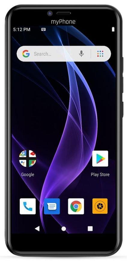 Telefon Mobil myPhone Prime 4 Lite, Procesor Quad-Core 1.3GHz, Capacitive touchscreen 5.5inch, 2GB RAM, 16GB Flash, 8MP, Wi-Fi, 3G, Dual Sim, Android (Negru)