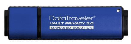 Stick USB Kingston DataTraveler Vault Privacy 3.0 Managed, 32GB, USB 3.0 (Albastru)