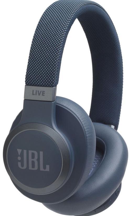 Casti Stereo JBL LIVE 650BTNC, Bluetooth, Microfon (Albastru)