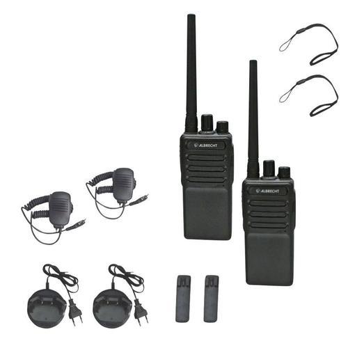 Statie radio PMR portabila Albrecht Tectalk Worker2, set cu 2 buc (Negru)