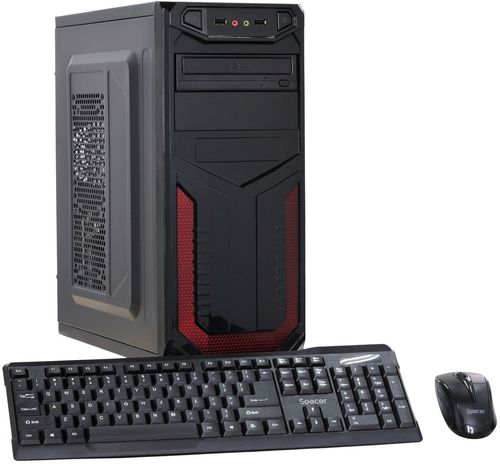 Calculator Sistem PC Gaming (Procesor Intel® Core™ i5-2400 (6M Cache, up to 3.40 GHz), Sandy Bridge, 4GB DDR3, 120GB SSD, Placa video Nvidia Geforce GT 710 2GB, DVD-RW, Cadou Tastatura + Mouse, Negru)