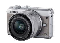 Aparat Foto Mirrorless Canon EOS M100 24.2MP, Full HD cu Obiectiv EF-M 15-45mm, F/3.5-6.3 IS STM (Gri)