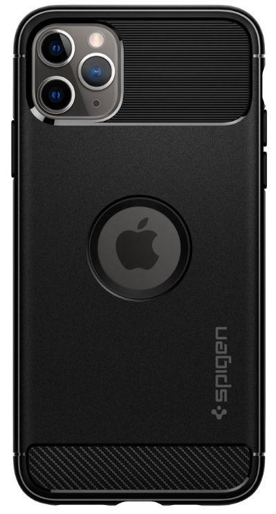 Protectie Spate Spigen Rugged Armor 077CS27231 pentru iPhone 11 Pro (Negru)