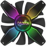 Ventilator Floston FRAMELESS GAMING RGB, 120mm (Negru)