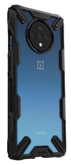 Protectie Spate Ringke FUSION X 8809688895180 pentru OnePlus 7T (Transparent/Negru)