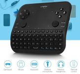 Mini tastatura smart UNIPLAY U6, gamepad, wireless, 6 functii, microfon, jack 3.5 mm, telecomanda (Negru)
