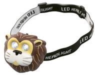 Lanterna frontala copii Home HLP2L, led alb rece, banda reglabila, 2 moduri iluminare, model leu