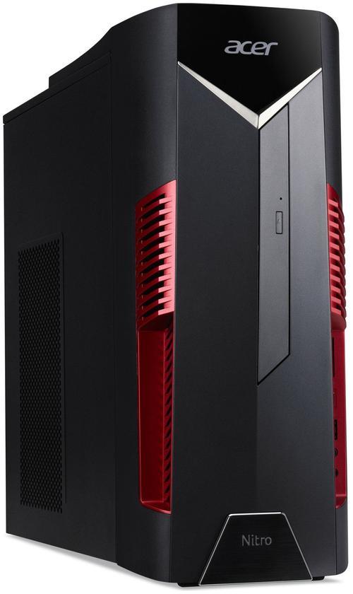 Calculator Sistem PC Gaming Acer Nitro N50-600 (Procesor Intel® Core™ i7-9700 (12M Cache, up to 4.70 GHz), Coffee Lake, 16GB, 1TB HDD @7200RPM + 256GB SSD, nVidia GeForce GTX 1660Ti @6GB, Endless OS, Negru)