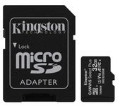Card de memorie MicroSD Kingston Canvas Select Plus, 32GB, UHS-I, Class 10 + Adaptor SD