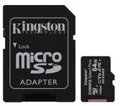 Card de memorie MicroSD Kingston Canvas Select Plus, 64GB, UHS-I, Class 10 + Adaptor  SD