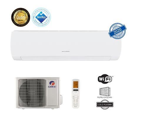 Aparat de aer conditionat Gree Muse GWH18AFD-K6DNA1B, 18000 BTU, Clasa energetica A++/A+, Wi-Fi, Inverter +, Generator Cold Plasma (Alb)