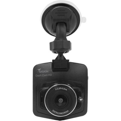 Camera auto Siskin Dash Cam, 720p HD, LCD 2.5inch, Unghiul de vizualizare 120° + Card 16GB (Negru)
