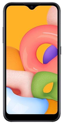 Telefon Mobil Samsung Galaxy A01, Procesor Snapdragon 439, Octa-core, PLS TFT Capacitive touchscreen 5.7inch, 2GB RAM, 16GB Flash, Camera Duala 13+2MP, 4G, Dual Sim, Wi-Fi, Android (Negru)