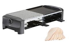 Plita Grill/Raclette electrica Princess 0116282001001, 1200 W, 42 x 21 cm, temperatura 225°C (Negru/Gri)