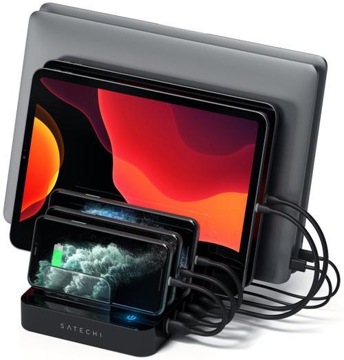 Hub USB Satechi ST-MCSTC7B, 5 x USB 3.0, 2 x USB Type-C (Negru) poza 2021